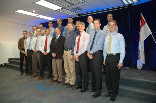 The Incredible Sixteen at the CAS's March 16 news conference.