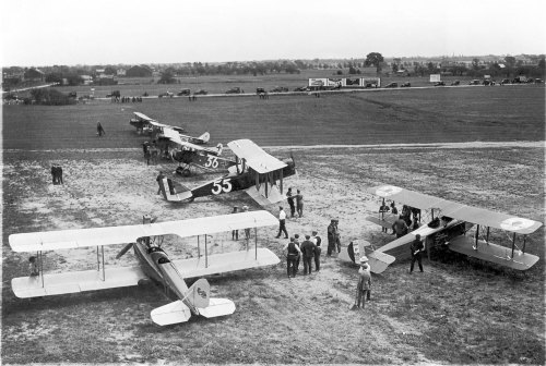 19Some of the planes that took part in the great Toronto-New York air race of August 1919. Such events stirred public interest in aviation as tried to adapt from war to peace. Such events put the spotlight on the need for public airports and improved aircraft deisgns. (National Museum of the USAF)