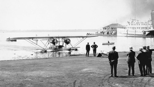 """""""Formative Years"""" details how commercial aviation won its wings ever so haltingly in post-WWI Canada. Here a Colonial Airways Sikorsky amphibian arrives on Toronto Bay on it 1929 summer schedule from Buffalo, NY. The Great Depression that hit later in the year quickly killed off many such promising business ventures. (CANAV Books Collection)"""