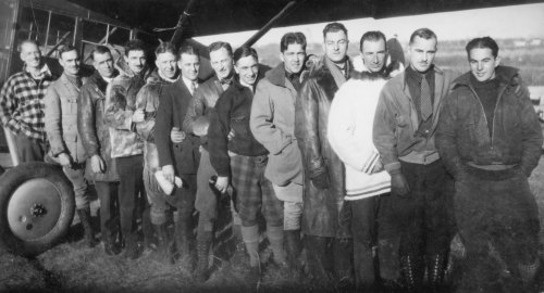 "In 1928 some of Canada best postwar pilots joined Frank E. Hammell's Northern Aerial Mineral Exploration. Here were the likes of ""Doc"" Oaks, ""Dazzy"" Vance and ""Al"" Cheesman. Mainly WWI veterans, they pioneered in Canada's most forbidding country, taking their bare-bones Fairchilds and Fokkers as far north as the Arctic islands in search of Eldorado. (J.P. Culliton Collection)"