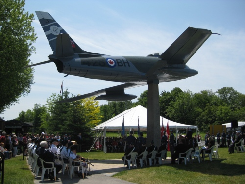Riverview Park in Peterborough on June 6 as 428 Wing unveiled its beautifully refurbished Sabre.