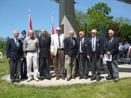 The ex-RCAF Sabre pilots who attended the Peterborough event.