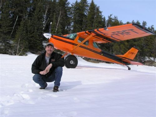 Richard Hulina with his Cessna 150