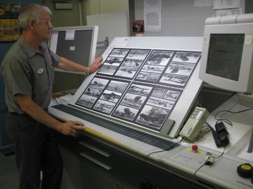 Pressman at work ... A Friesen pressman checks a proof during the ACFY job.