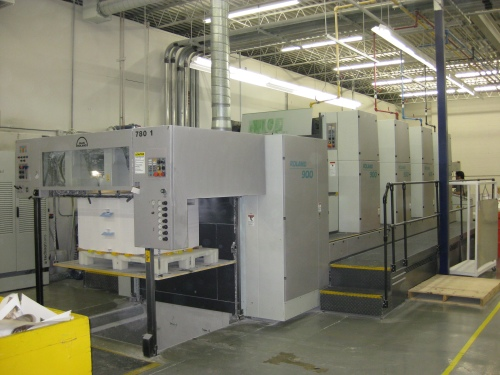 """Big Press ... It's a """"go large or go home"""" world out in Altona. But not to worry, for Friesen knows the importance of keeping technologically current. Here is some of its advanced equipment ... a huge Roland 900 colour press."""