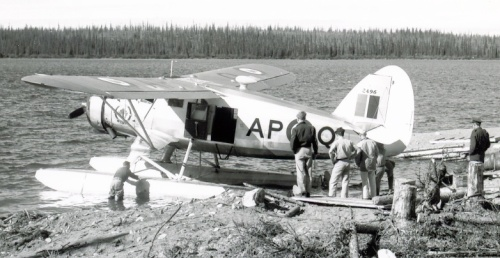 RCAF 413 Squadron Norseman AP-Q/2496 on geodetic survey support duties in the North early after the war.