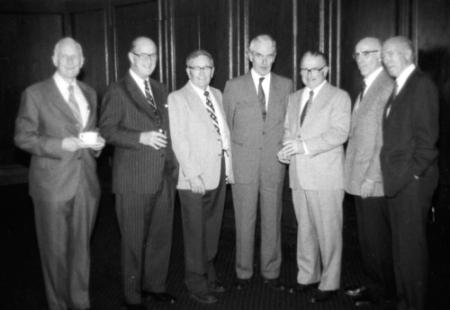 More luminaries. On the left is the great Ron Baker of TCA. The rest are famous Canadair types, a major book for each one of whom needs to be written: Tom Harvie, Al Lilly, Dick Richmond, Bob Raven, Peter Gooch and Ray Hébert. Winnipegger Dick Richmond, whose aeronautical degree was from the University of Michigan, had spent the war with the NRC and Fairchild, working on such projects as a target tow mechanism for the Bolingbroke. Next he was a leading member of the team that designed the outstanding F.11 Husky bushplane. Later positions included vice-president at P&WC and Spar (a top man on the Canadarm project) and president of McDonnell Douglas Canada. At Canadair he was largely instrumental in saving the Challenger program, then he pushed to launch the CRJ, both of which efforts were strongly opposed by aggressive negative factions. Both projects long-since have become gigantically successful. Happily, Dick has been recognized by and inducted into Canada's Aviation Hall of Fame.