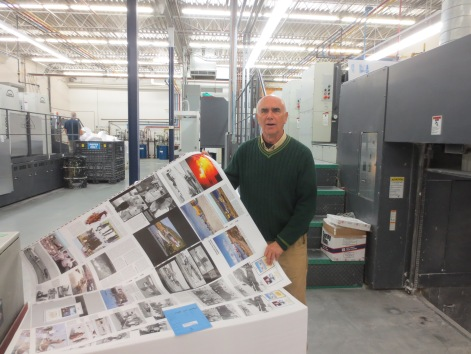 Publisher Milberry examines Vol. 2, hot off the presses!