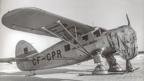 A nice frigid view of CF-CPR between trips (location not known). In Norseman Vol.1 there's another good view of CF-CPR taken at Yellowknife shortly before it was lost near there in August 1945.
