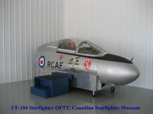 The CSM's beautifully-restored CAE-built CF-104 flight simulator. Based at Cold Lake, No.6 OTU/417 Squadron trained Canada's CF-104 pilots from 1961 into the early 1980s.