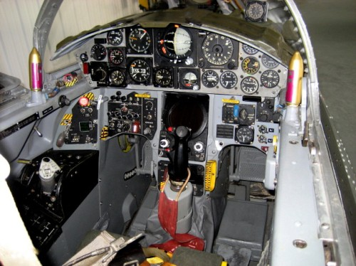 The CF-104 flight simulator cockpit restored by the CSM to the smallest detail. (photos via Steve Pajot/CSM)