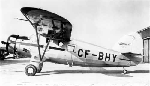 An ideal side-on view of Norseman V CF-BHY bearing the logo of Tommy Wheeler's Gray Rocks Air Service. So pristine is this view than I suspect it was taken at Noorduyn soon after 'BHY rolled off the production line. Gray Rocks accepted 'BHY in July 1945 and continued operating it until it was wrecked landing at the railway and forestry centre of Oskelaneo in northern Quebec on December 18, 1959. 'BHY previously had eluded me, so is not found in either Norseman volume.