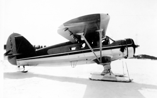 The renowned Norseman CF-BFU during Hudson Bay Air Transport days at Flin Flon. From here in the late 1940s Ross Lennox flew 'BFU throughout Northern Manitoba, the Northwest Territories and Yukon. Eventually replaced by a new Otter, in 1958 'BFU went to Chummy Plummer of Sioux Narrows., and later served other operators. In 1971 'BFU was wrecked on landing at Selkirk, Manitoba.