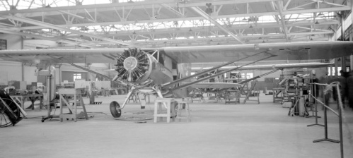 "In all my research and sleuthing I never before have seen a photo of the NWI Skyrocket ""production line"". One day Leslie poked his nose in the NWI hangar and grabbed to very telling shot of three Skyrockets under way. Nearest is CF-DCE."