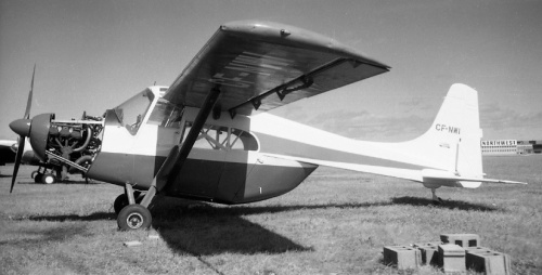 "In 1957-58 NWI decided to represent the Edgar Percival company in the UK with its E.P.9 ""Prospector"" utility plane. Specially registered in Canada, it made sales tours and did many a demo/promo flight, but the E.P.9 had less of a prayer of succeeding than had the Husky or Skyrocket. No Canadian operators was likely to invest in such a type, when the locally made and well supported Beaver, Otter and Norseman. CF-NWI has been preserved by the Reynolds Alberta Museum in Wetaskiwin, Alberta."