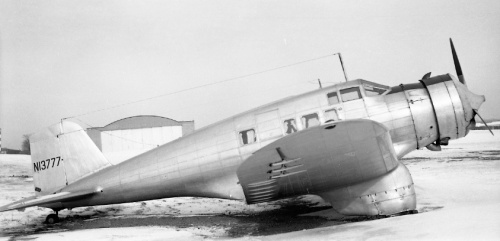 One of the most modern aircraft of the early 1930s was the speedy, 8-passenger Northrop Delta, first flown in 1933. Accidents plagued the Delta, however, so it did not realize its potential. Several were manufactured in Canada by Canadian Vickers for the RCAF (the Delta was the RCAF's first all-metal aircraft). Edmonton occasionally was a refuelling spot for a long-range Northrop. Shown is NC13777. Delta No.28, it was powered by a 710-hp Wright. This example is believed be in storage somewhere in Kansas City, Missouri.