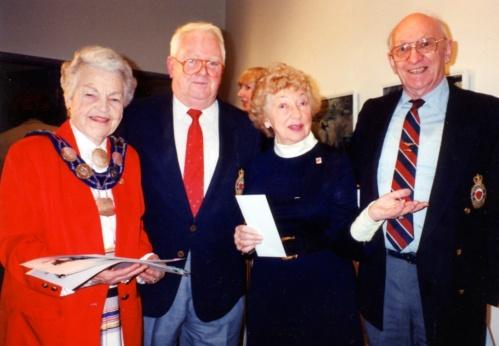 Mayor McCallion, Ed McKay, Bambi Broomfield and Norm Dawber.
