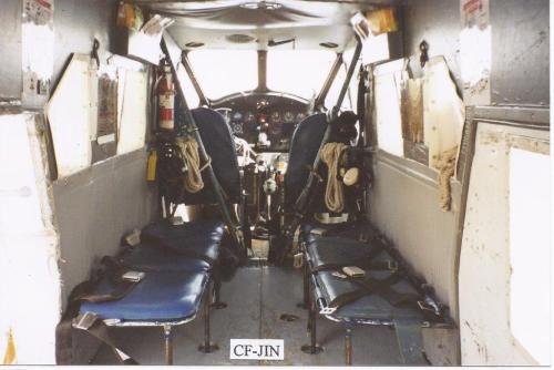 The bare-bones interior of Norseman JIN as it was the season  Bob Cameron flew it. (Bob Cameron)
