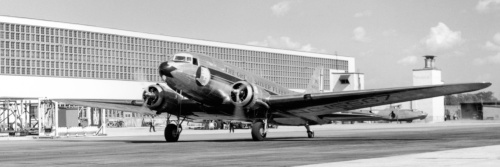 "One of the ""Great Silver Fleet"" DC-3s which Canadair delivered to Eastern Airlines. NC15667 had begun as USAAC C-49J 43-1986. Sold by EAL in 1952, it had numerous subsequent owners and last was heard of in 1988 as N211TA at Miami."