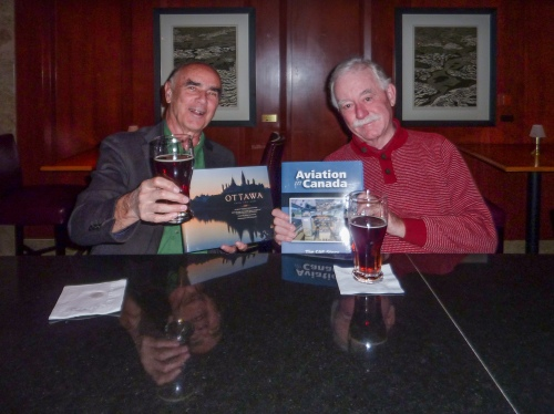 … On the same trip, I met up with my old book publishing compatriot, John McQuarrie. As sometimes has happened over the decades, we each had a new title out at the same time, so we traded books in the bar in the Hilton Lac Leamy. John's 2016 book will be a spectacular trans-Canada photographic cavalcade. See magiclightphoto.ca for info about John's wonderful line of books.