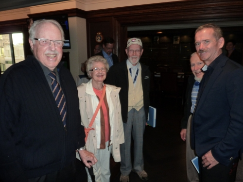 Fans Donald Hall, Lillian Roberts, Sheldon Benner, Gordon Roberts and Chris Hadfield.