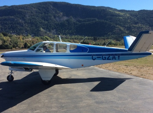 C-GZAY is Canada's oldest Bonanza. It's seen at home base in Castlegar, BC, looking mighty fine for its 69 years! (Ian Coull)