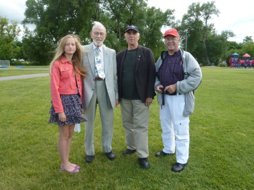 Photo 11 Roy Brown Stouffville Canada Day 2016 Nadine, Sheldo, Larry, John Chalmers P1130086