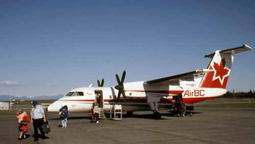 Dash 8 No.1 Air BC'sFleet No.807 Comox August 18, 1991
