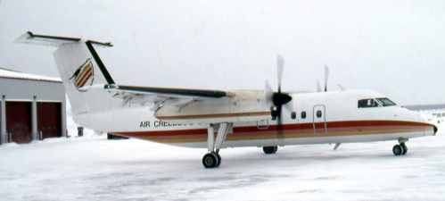 Dash 8 No.16 Air Creebec at Waskakanish, Quebec