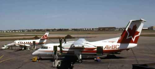 Dash 8 No.4 C-GABH at Edmonton Municipal Airport June 25, 1993