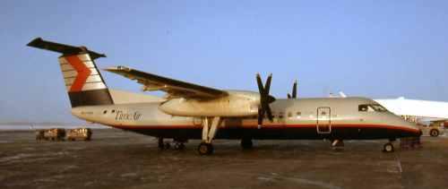 Dash 8 No.6 C-GHTA at Saskatoon
