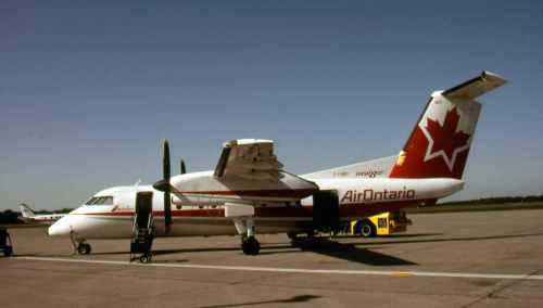Dash 8 No.9 C-FGRC at Sault Ste. Marie
