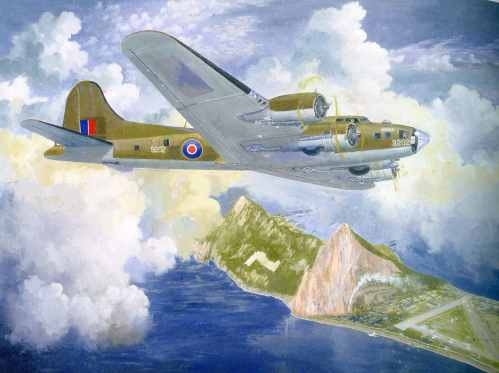 1 Blog Gibraltar B-17 in colour