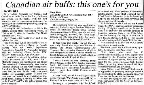 CANAV History 21CANAV Review Edmonton JournalFebruary 10, 1985